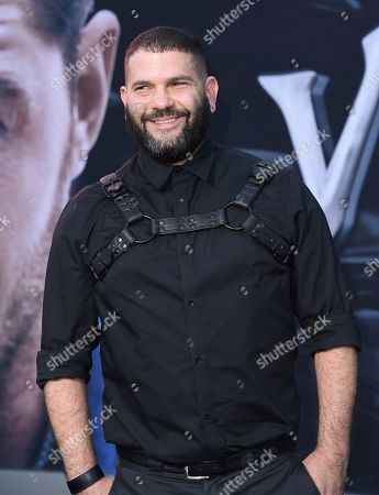 """Guillermo Diaz arrives at the world premiere of """"Venom"""", at the Regency Village Theater in Los Angeles"""