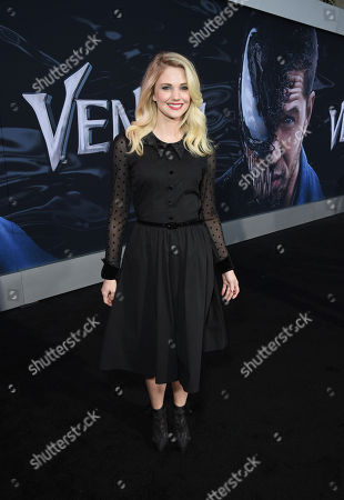 Stock Image of Katie Gill at Columbia Pictures' VENOM World Premiere at the Regency Village Theater