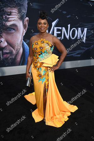 Stock Image of Sope Aluko at Columbia Pictures' VENOM World Premiere at the Regency Village Theater