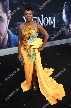 Sope Aluko at Columbia Pictures' VENOM World Premiere at the Regency Village Theater