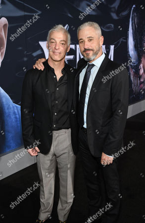 Jeff Pinkner, Writer, and Matt Tolmach, Producer, at Columbia Pictures' VENOM World Premiere at the Regency Village Theater