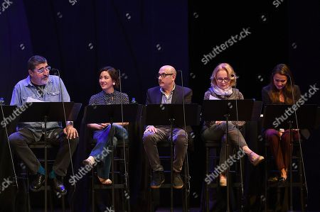 Alfred Molina, Constance Wu, Willie Garson, Kate Burton, Italia Ricci. Alfred Molina, from left, Constance Wu, Willie Garson, Kate Burton and Italia Ricci perform at the one night only Terms of Endearment reading benefitting Stand Up To Cancer and Geffen Playhouse on Monday, Oct.1, 2018, in Los Angeles