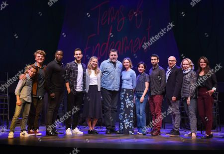 Stock Photo of Daniel Beaty, Jake Brennan, Ethan Jones, Kumail Nanjiani, Chris Wood, Melissa Benoist, Calista Flockhart, Alfred Molina, Constance Wu, Willie Garson, Kate Burton, Italia Ricci. Daniel Beaty, from left, Jake Brennan, Ethan Jones, Kumail Nanjiani, Chris Wood, Melissa Benoist, Calista Flockhart, Alfred Molina, Constance Wu, Willie Garson, Kate Burton and Italia Ricci perform at the one night only Terms of Endearment reading benefitting Stand Up To Cancer and Geffen Playhouse on Monday, Oct.1, 2018, in Los Angeles