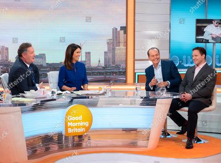 Piers Morgan, Susanna Reid, Quentin Willson and Joe Clapson