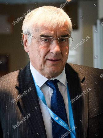 Conservative party patron Sir Michael Hintze attends day two of the 2018 Conservative Party autumn conference at the ICC in Birmingham. This years event is focused heavily on Brexit and negotiations with the EU over the UK's exit form the European Union.