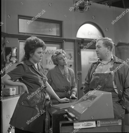 Sandra Gough (as Irma Ogden), Betty Alberge (as Florrie Lindley) and Graham Haberfield (as Jerry Booth)