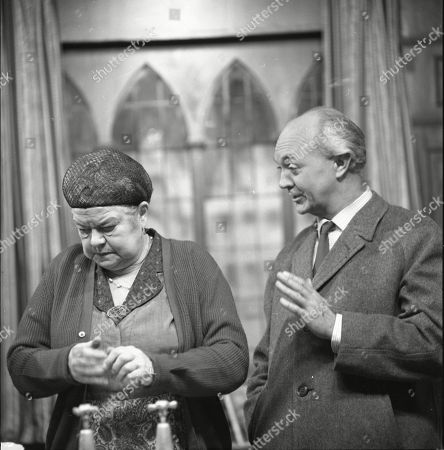 Violet Carson (as Ena Sharples) and George A. Cooper (as Willie Piggott)