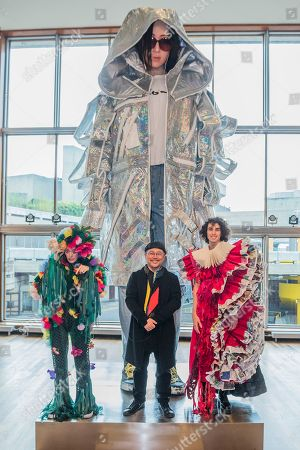 Tim Yip and models in Garden and Magazine - Lili, a large scale art installation which is part of BAFTA and Academy Award Winner art director, Tim Yip's multifaceted Cloud project especially commissioned for this year's China Changing Festival.