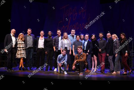 James Brooks, Pam Williams, Gil Cates Jr., Greg Berlanti, Daniel Beaty, Chris Wood, Melissa Benoist, Alfred Molina, Constance Wu, Calista Flockhart, Gordon Greenberg, Jessica Queller, Kumail Nanjiani, Willie Garson, Kate Burton, Italia Ricci, Ethan Jones, Jake Brennan. James Brooks, from left, Pam Williams, Gil Cates Jr., Greg Berlanti, Daniel Beaty, Chris Wood, Melissa Benoist, Alfred Molina, Constance Wu, Calista Flockhart, Gordon Greenberg, Jessica Queller, Kumail Nanjiani, Willie Garson, Kate Burton, Italia Ricci, Ethan Jones and Jake Brennan attend the one night only Terms of Endearment reading benefitting Stand Up To Cancer and Geffen Playhouse on Monday, Oct.1, 2018, in Los Angeles