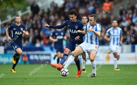 Dele Alli In Action With Dean Whitehead. Football: Premier League. Huddersfield Town V Tottenham Hotspur (0-4) Picture: Graham Chadwick.