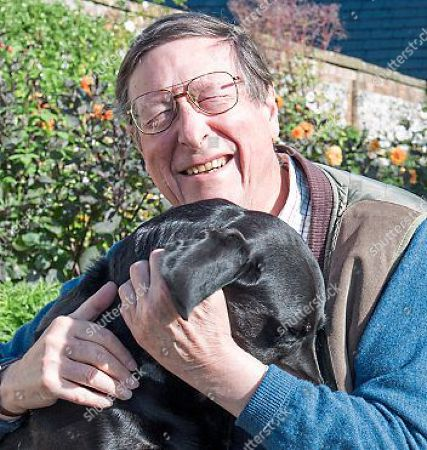 Stock Photo of Sir Max Hastings Is Writing About How He Recently Nearly Lost His Beloved Black Lab 'lupo' To Illness 15.09.17.