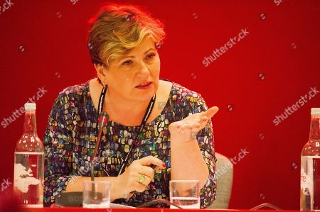 Emily Thornbury Shadow Foreign Secretary . Labour Conference 2017. Shadow Foreign Secretary Emily Thornbury Speaking At A Fringe Meeting At The Conference.