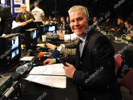 Stock Picture of Mike Costello Bbc Boxing Commentator. 23/08/17