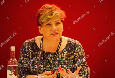 Emily Thornbury Shadow Foreign Secretary . Labour Conference 2017 - Brighton. Pic Shows:- Shadow Foreign Secretary Emily Thornbury Speaking At A Fringe Meeting At The Conference.
