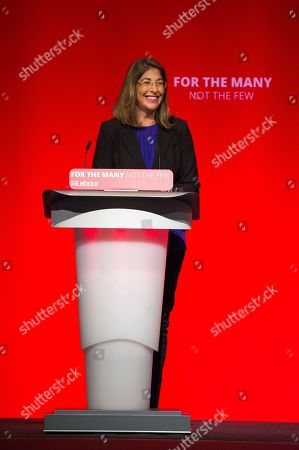 Stock Photo of Guest Speaker Naomi Klein Speaking At The Labour Party Conference Brighton 26th September 2017.