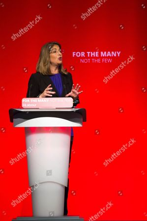 Stock Picture of Guest Speaker Naomi Klein Speaking At The Labour Party Conference Brighton 26th September 2017.