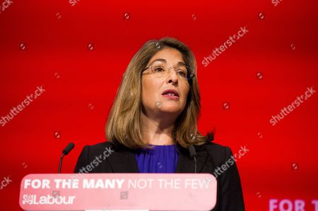 Stock Image of Guest Speaker Naomi Klein Speaking At The Labour Party Conference Brighton 26th September 2017.