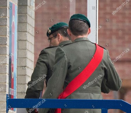 Danny Foster. Royal Marine Corporal Philip Rees Beer 34(glasses) One Of Three Defendants Appearing At A Court Martial Hearing In Portsmouth Charged With Various Counts Of Ill Treatment Of Subordinates. 26.09.17.