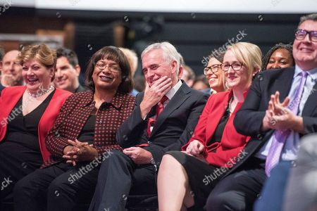 Jeremy Corbyn's Speech On The Final Day Of Labour Party Conference In Brighton. Shadow Cabinet Including (l-r):- Emily Thornbury Dianne Abbott John Mcdonnell Rebecca Long-bailey And Tom Watson.
