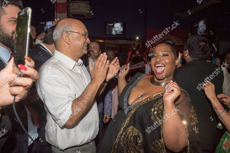 Stock Image of Keith Vaz. Diversity Night At A Party Hosted By Labour Mp Keith Vaz. Keith Vaz Dances With Karen Cummings.