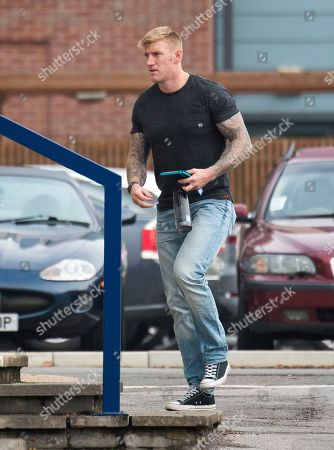Editorial photo of Danny Foster. Royal Marine Corporal Danny Foster One Of Three Defendants Appearing At A Court Martial Hearing In Portsmouth Charged With Various Counts Of Ill Treatment Of Subordinates. Picture David Parker 26.09.17.