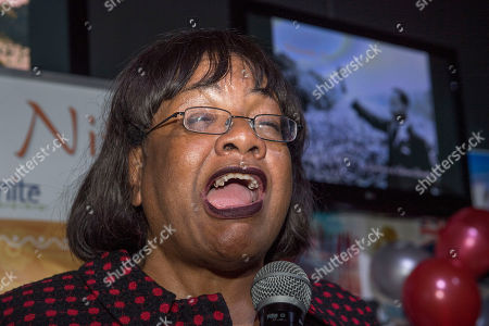 Editorial photo of Diane Abbott. Diversity Night At A Party Hosted By Labour Mp Keith Vaz. Diane Abbott.