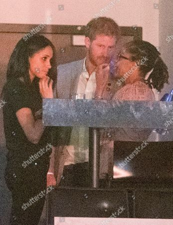 Editorial photo of Prince Harry Watches The Closing Ceremony From A Box With Girlfriend Meghan Markle Her Mother Doria Radlan Friends Jessica Mulroney And Markus Anderson At The Air Canada Centre Invictus Games 2017 Toronto Canada.n.