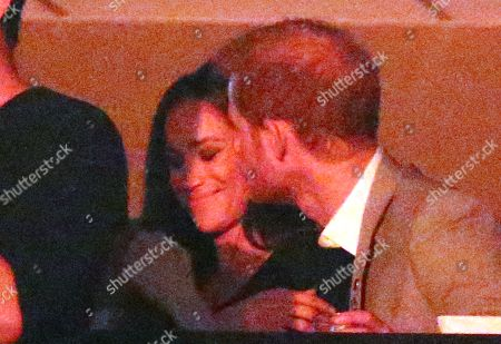 Editorial picture of Prince Harry Watches The Closing Ceremony From A Box With Girlfriend Meghan Markle Her Mother Doria Radlan Friends Jessica Mulroney And Markus Anderson At The Air Canada Centre Invictus Games 2017 Toronto Canada.