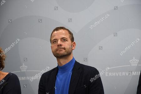Editorial image of Danish trade minister, Jarlov Hols, holding a press conference, Copenhagen, Denmark - 19 Sep 2018