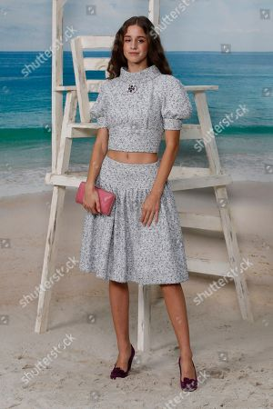 Stock Photo of Austrian actress Coco Konig poses during a photocall before the presentation of Chanel Spring/Summer 2019 ready-to-wear fashion collection in Paris, Tuesday, Oct.2, 2018