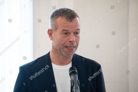 German photographer Wolfgang Tillmans delivers a speech during a ceremony at Bellevue Palace in Berlin, Germany, 02 October 2018. The Order of Merit of the Federal Republic of Germany is awarded by the President to honour achievements of ?particular value to society?.