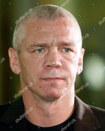 German former boxer Graciano Rocchigiani arrives at the court in Berlin