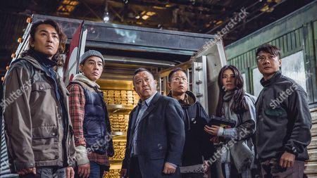 Stock Picture of Ekin Cheng as Lion, Jordan Chan as Crater, Eric Tsang as Papa, Jerry Lamb as Mouse, Charmaine Sheh, Kar Lok Chin as Dan Ding