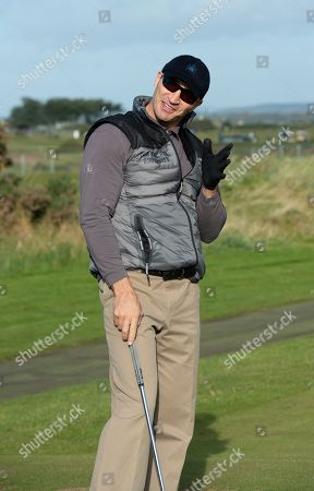 Wladimir Klitschko on practice day at The Old Course.