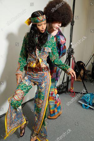Editorial image of Junko Shimada show, Backstage, Spring Summer 2019, Paris Fashion Week, France - 02 Oct 2018
