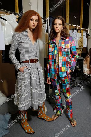 Stock Photo of Models backstage