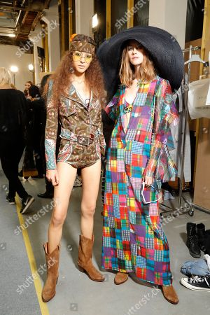 Editorial photo of Junko Shimada show, Backstage, Spring Summer 2019, Paris Fashion Week, France - 02 Oct 2018