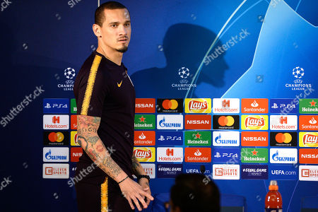 Galatasaray's Maicon attends a press conference at Dragao stadium in Porto, Portugal, 02 October 2018. Galatasaray will face FC Porto in their UEFA Champions League Group D soccer match on 03 October 2018.