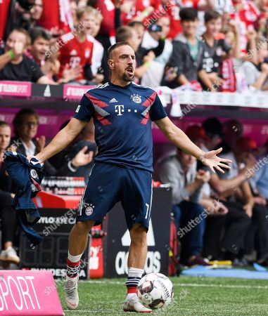 Frank Ribery   Football Bundesliga Spiel  FC Bayern Muenchen  -  Bayer 04 Leverkusen  15.9.2018 in Muenchen. DFL regulations prohibit any use of photographs as image sequences and / or quasi-video.