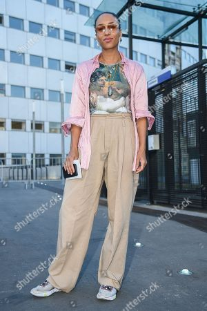 Editorial picture of Street Style, Spring Summer 2019, Paris Fashion Week, France - 27 Sep 2018
