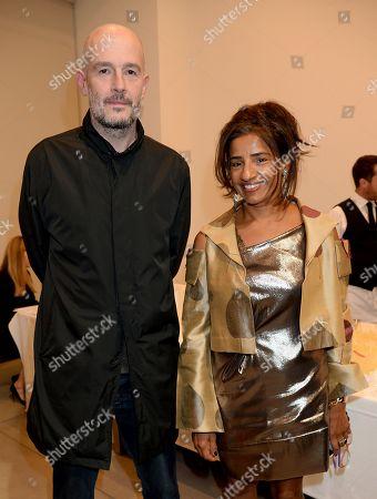 Stock Picture of Jake Chapman (L) with Michelle de Souza