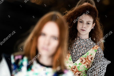 Stock Photo of Natalie Westling on the catwalk
