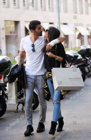 Editorial picture of Filippo Magnini and Giorgia Palmas out and about, Milan, USA - 02 Oct 2018