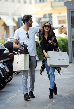 Editorial photo of Filippo Magnini and Giorgia Palmas out and about, Milan, USA - 02 Oct 2018
