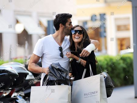 Stock Image of Filippo Magnini and Giorgia Palmas