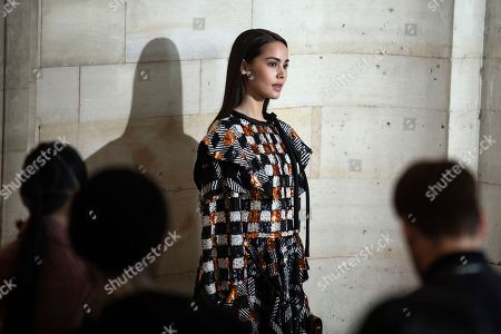 Thai actress Urassaya Sperbund arrives for  the Spring/Summer 2019 Women's collections show by French designer Nicolas Ghesquiere for Louis Vuitton during the Paris Fashion Week, in Paris, France, 02 October 2018. The presentation of the Women's collections runs from 24 September to 02 October.