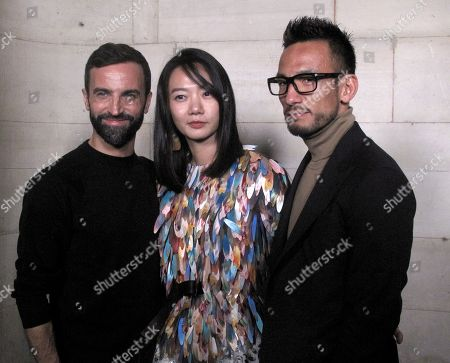 Nicolas Ghesquiere, Doona Bae and Hidetoshi Nakata in the front row