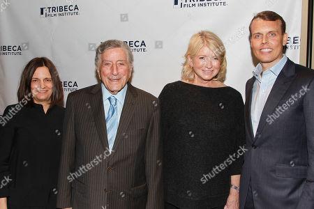 Amy Hobby, Tony Bennett, Martha Stewart and David Earls