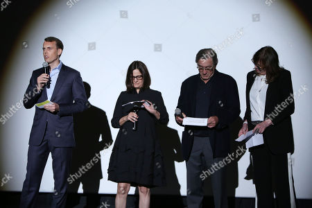 David Earls, Amy Hobby, Robert De Niro, and Jane Rosenthal