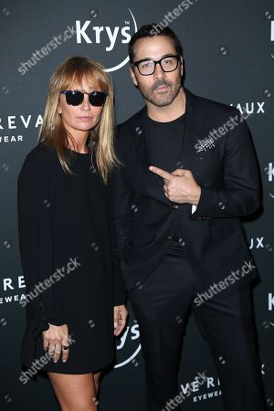 Axelle Laffont and Jeremy Piven